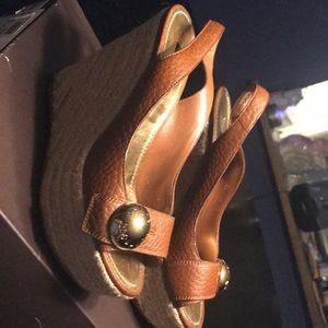 Louis Vuitton vintage wedge sandals